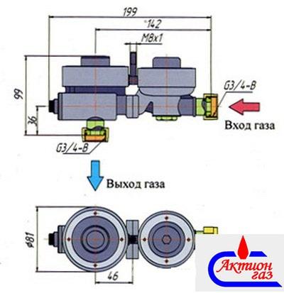 Комплект сальников для регулятора давления газа РДГБ-6